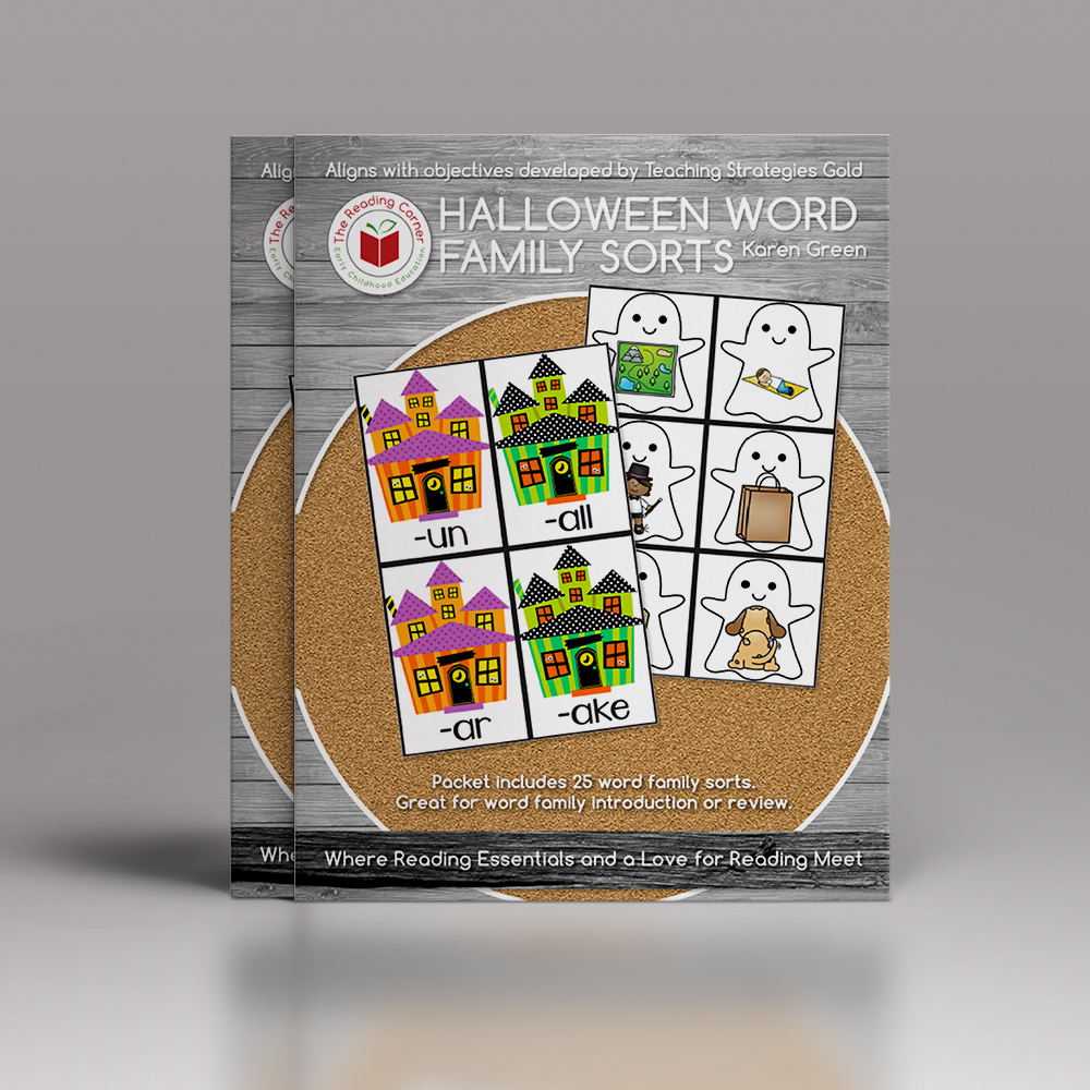 Halloween Word Family Sort